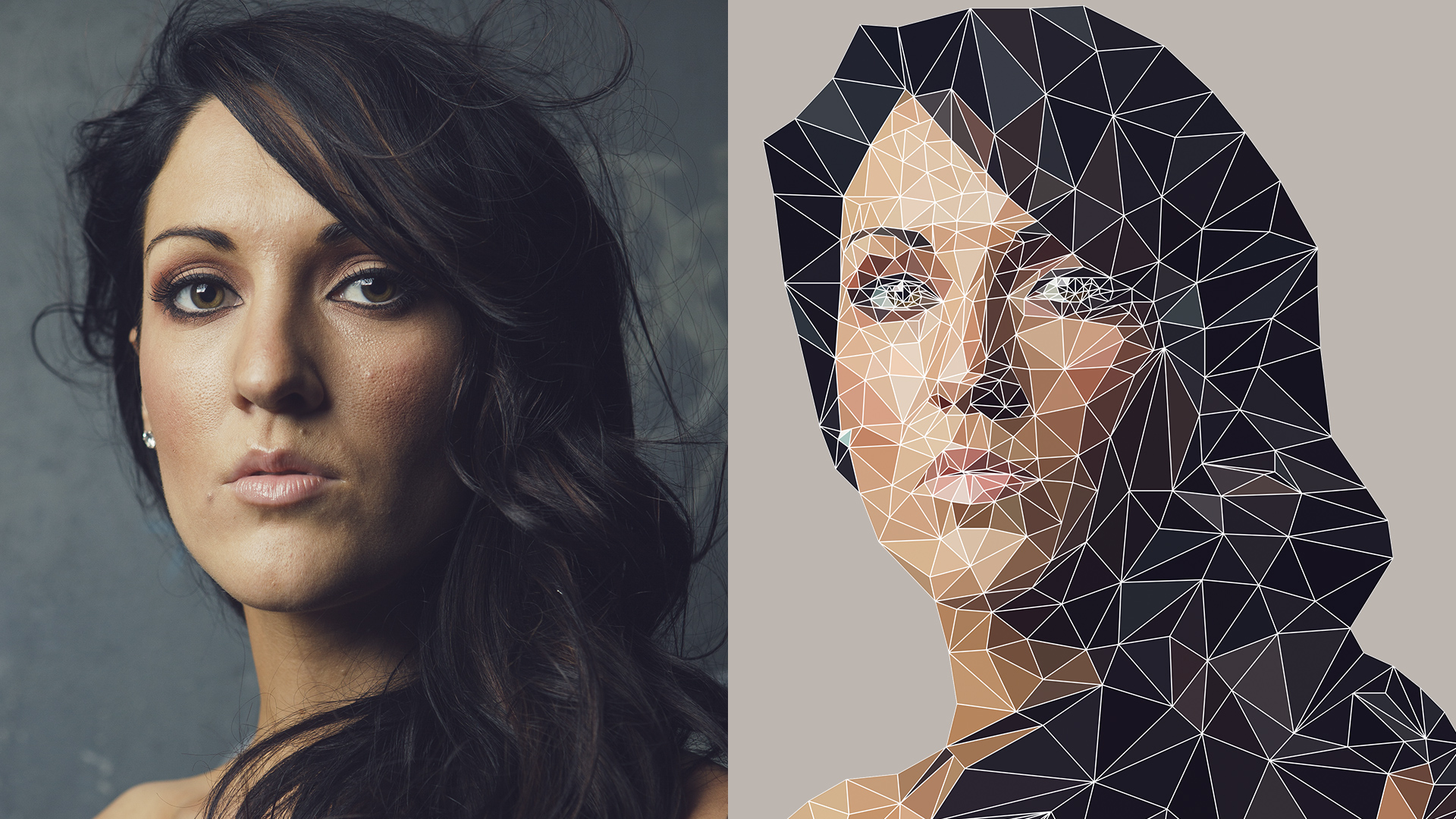 Low Poly Geometric Effect in Photoshop ONLY!